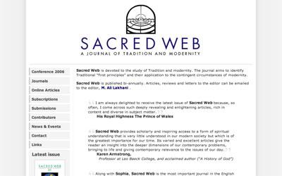 Sacred Web website