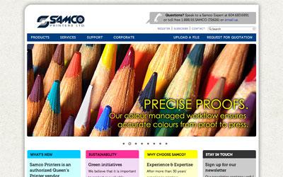 Samco Printers website