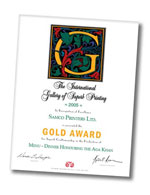 International Gallery of Superb Printing Gold Award